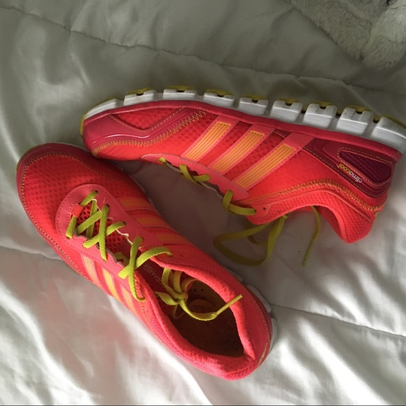 Inspeccionar Residencia Arco iris  adidas Shoes   Neon Pink Adidas Climalite Sneakers Sz 85   Poshmark